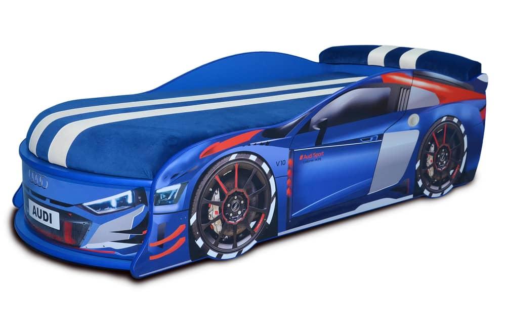 ауди турбо синяя кровать машина