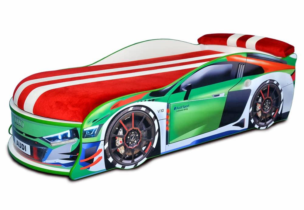 ауди турбо зеленая кровать машина
