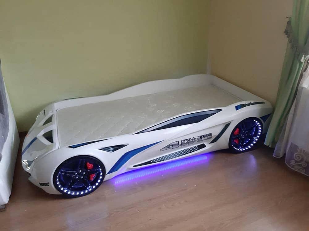 кровать машина бмв вип белая