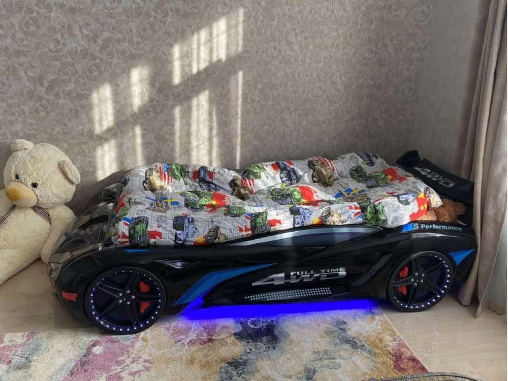 кровать машина бмв вип черная