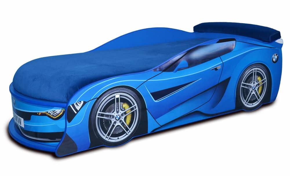 ліжко машина бмв турбо  синя