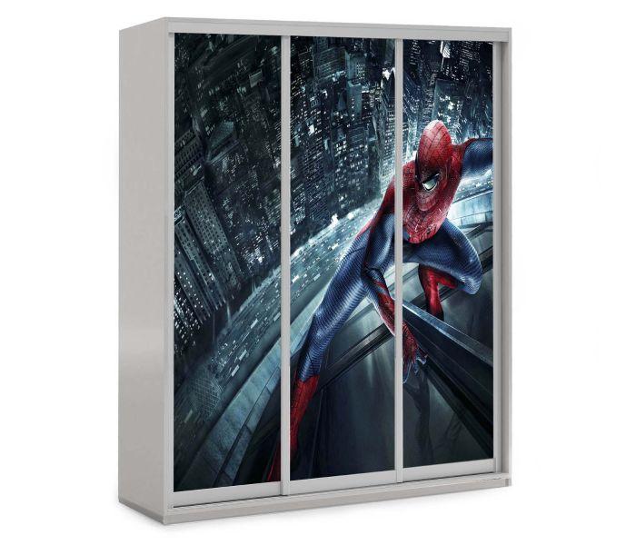детский шкаф купе 3 двери спайдермен