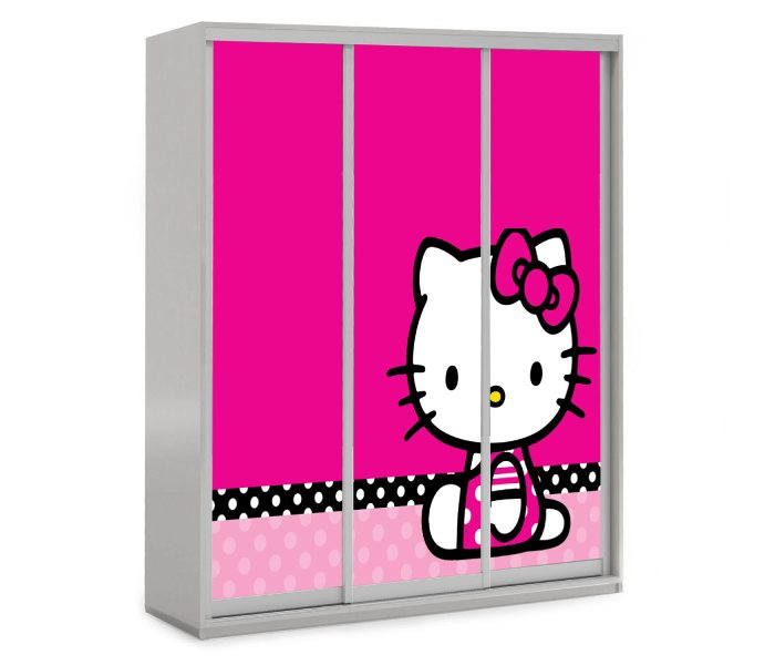 детский шкаф купе 3 двери хелло китти