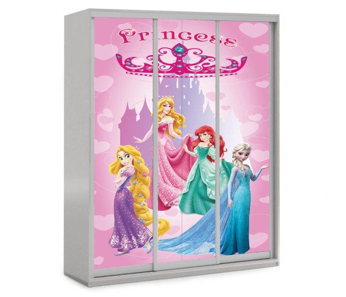 детский шкаф купе 2 двери принцессы дисней