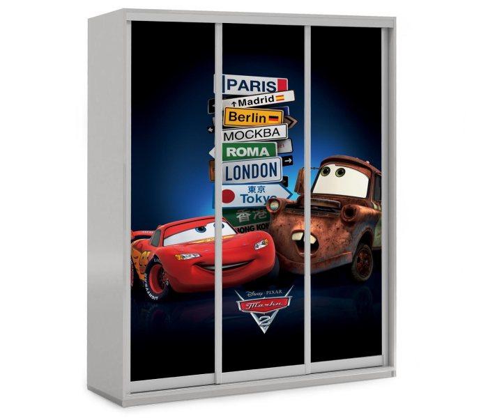 детский шкаф купе 3 двери маквин