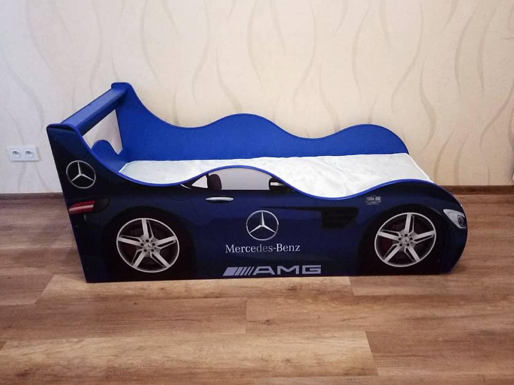 кровать машина мерседес драйв синяя