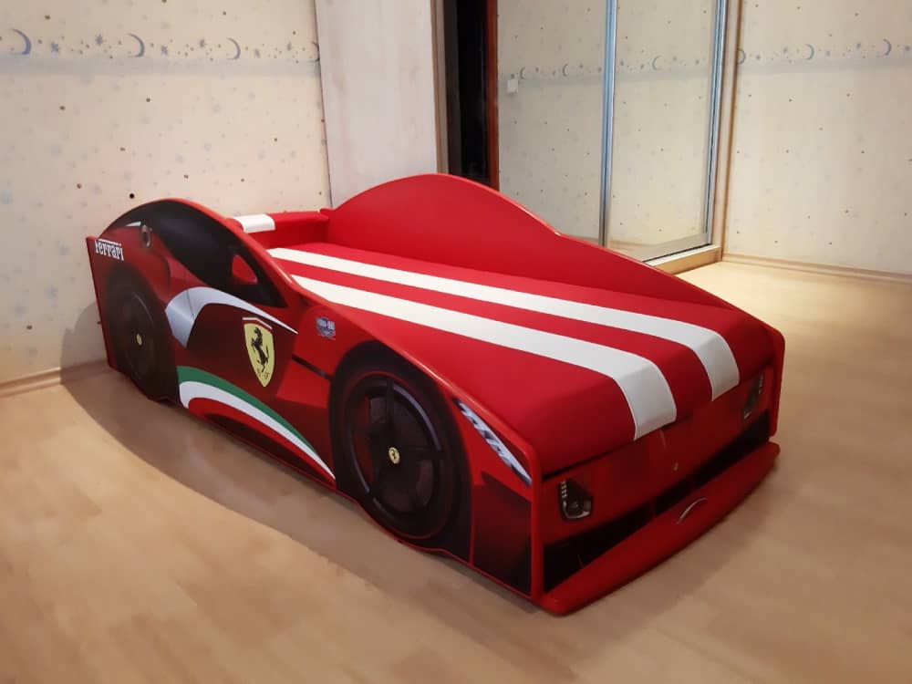 кровать машина элит феррари красная