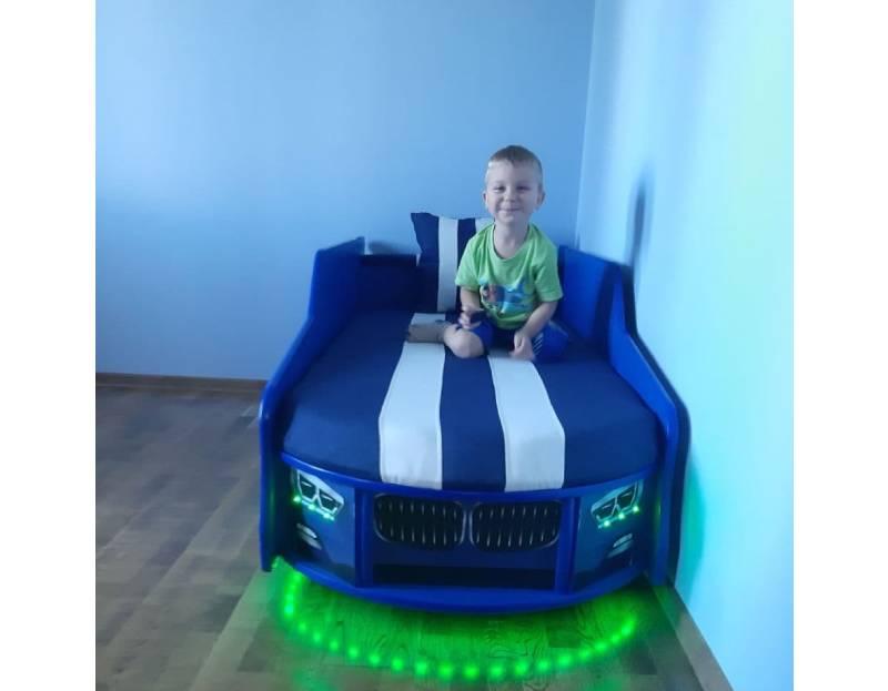 Отзыв детской кровати машинки премиум бмв синей