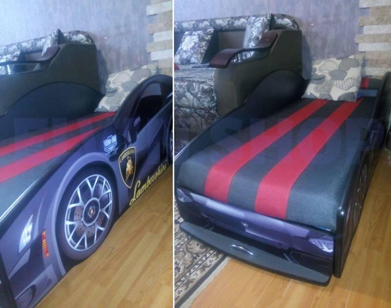 отзыв на кровать-машину ламборджини черную