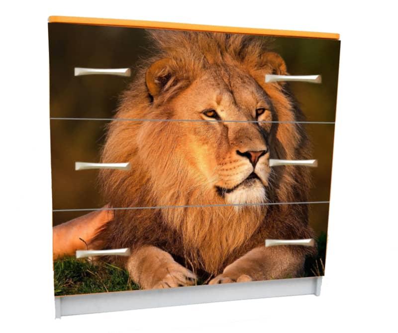 комод с 3 ящиками лев