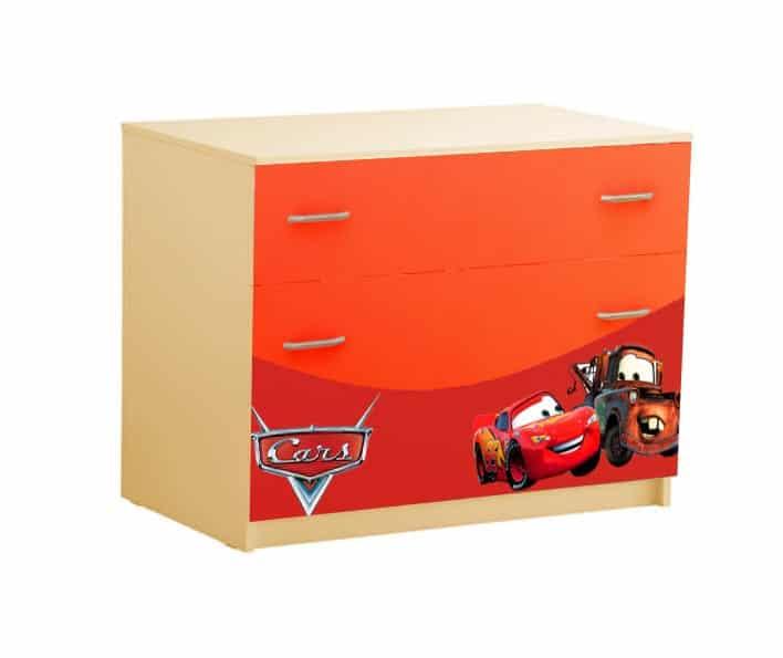комод с 3 ящиками красный маквин