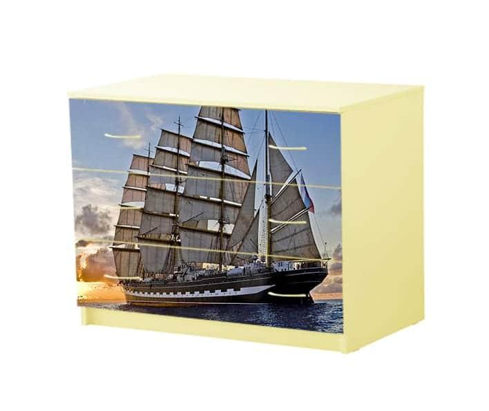 комод с 3 ящиками корабль
