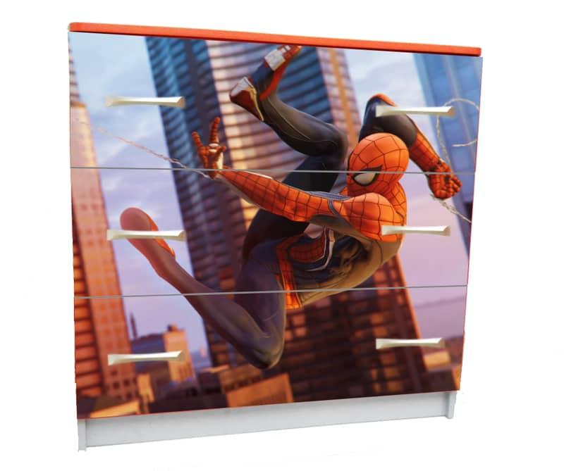 комод с 3 ящиками с человеком пауком