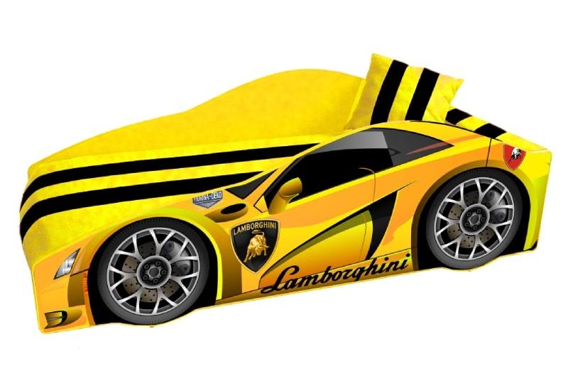 кровать машина ламборджини элит желтая