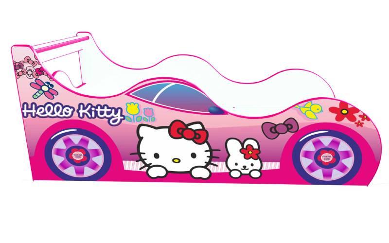 Кровать машинка Китти драйв розовая