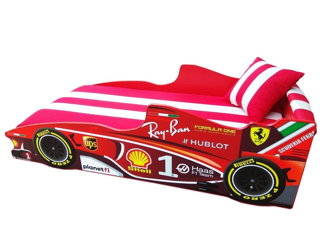 кровать машина красная формула 1