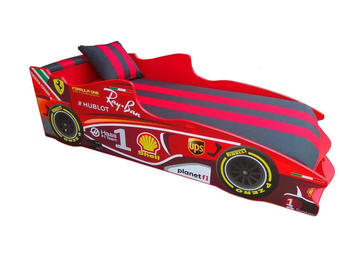 кровать машина красная с черным формула 1