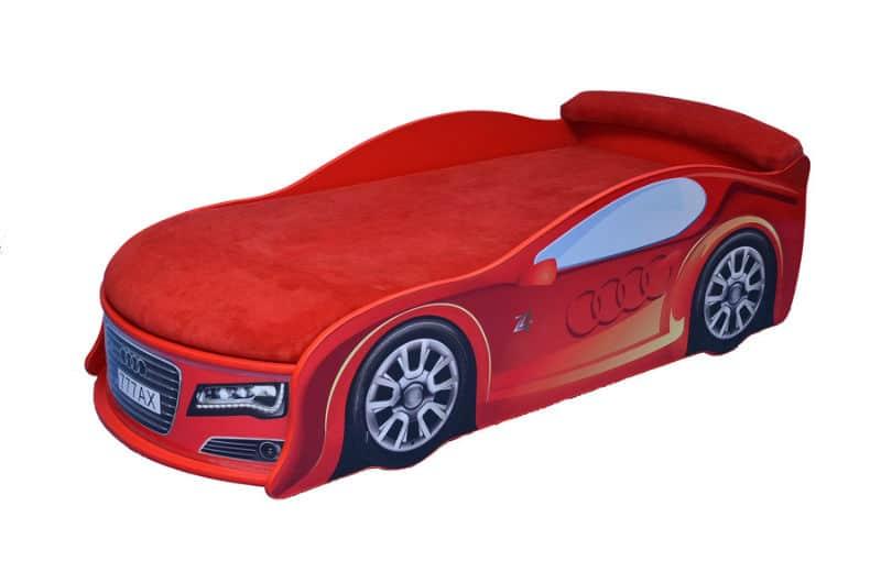 ліжко машина ауді червона з матрацом