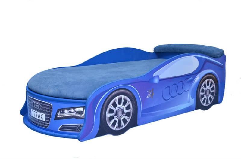 ліжко машина ауді синя з матрацом