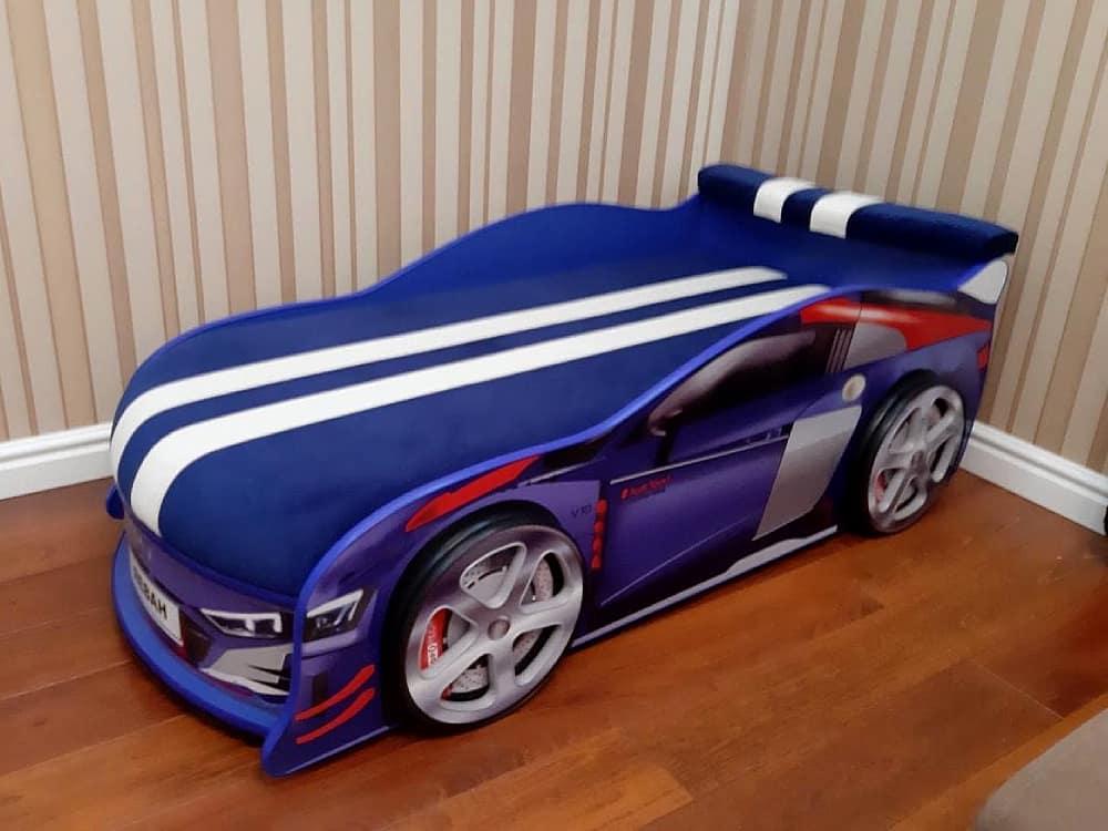 кровать машина ауди турбо синяя