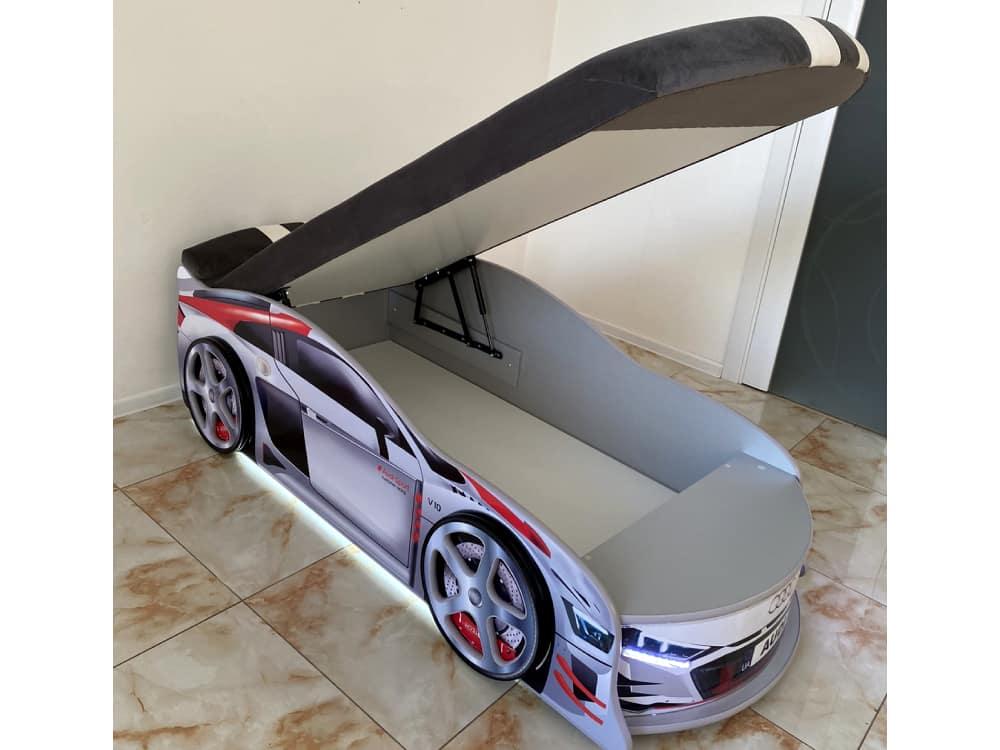 кровать машина ауди турбо с подъемником