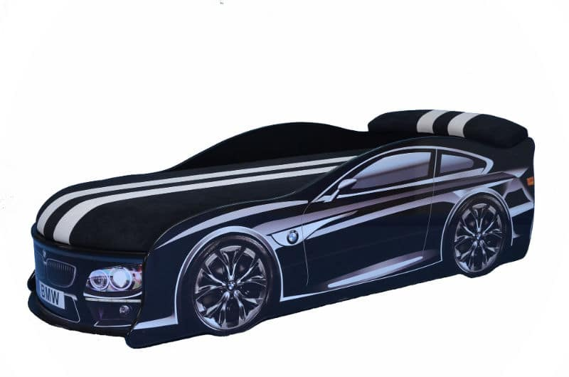 ліжко машина бмв чорна з матрацом