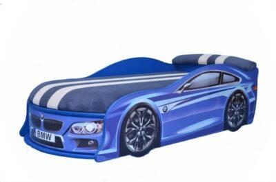 ліжко машина бмв синя з матрацом