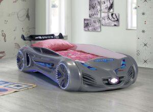 кровать машина будущего серая вип пластик