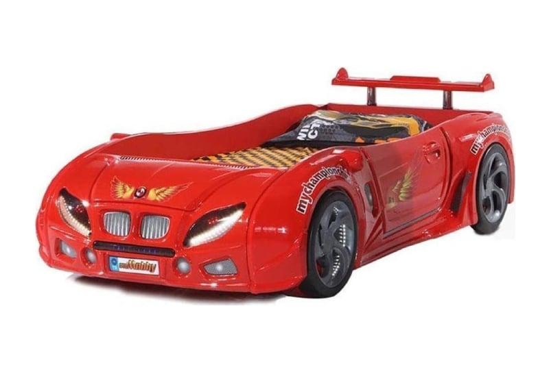 кровать машина из пластика красная формула 1