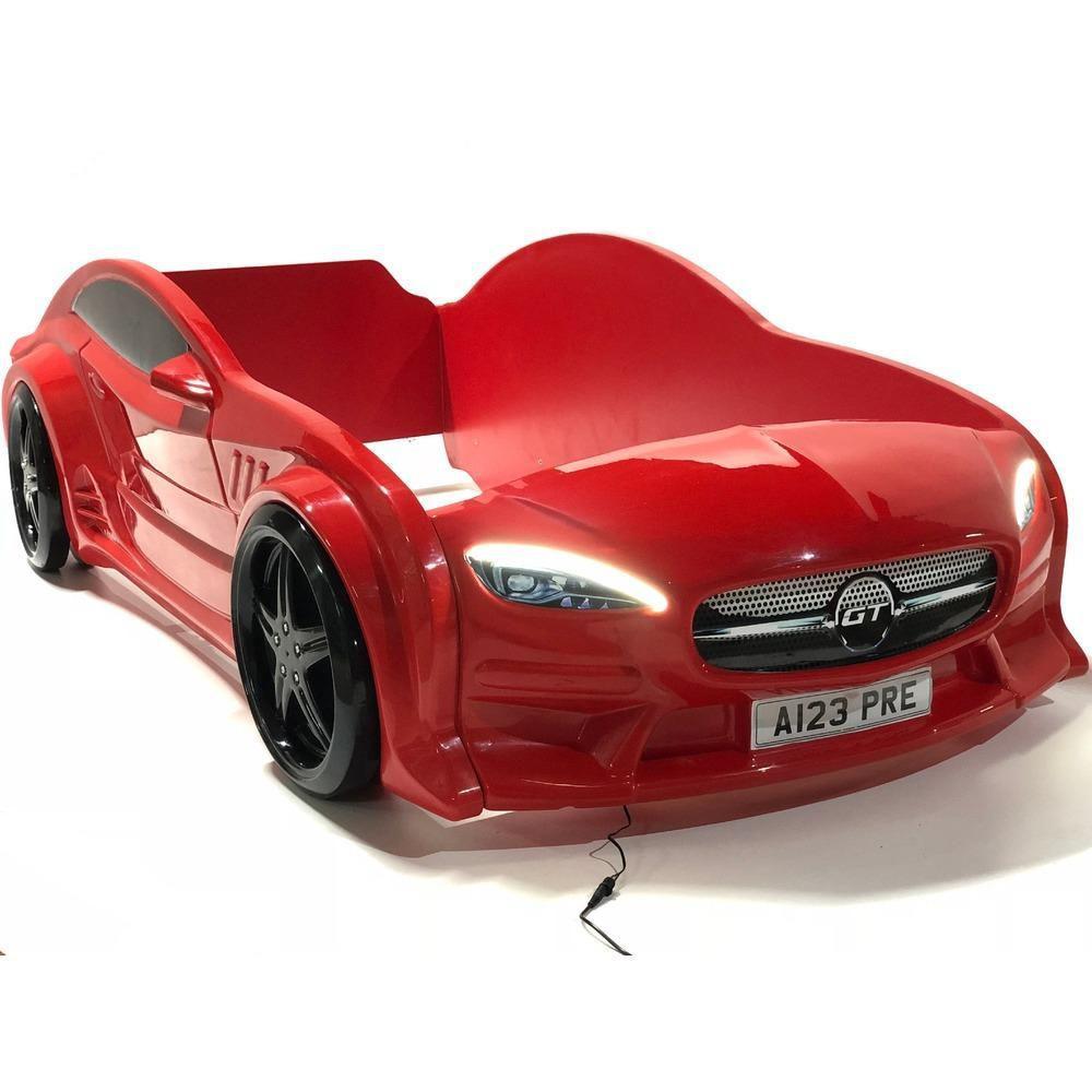 кровать машина GT красная вип из пластика
