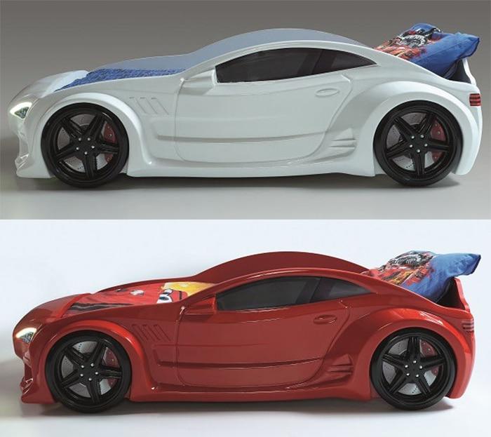 кровать машина GT красная и белая вип