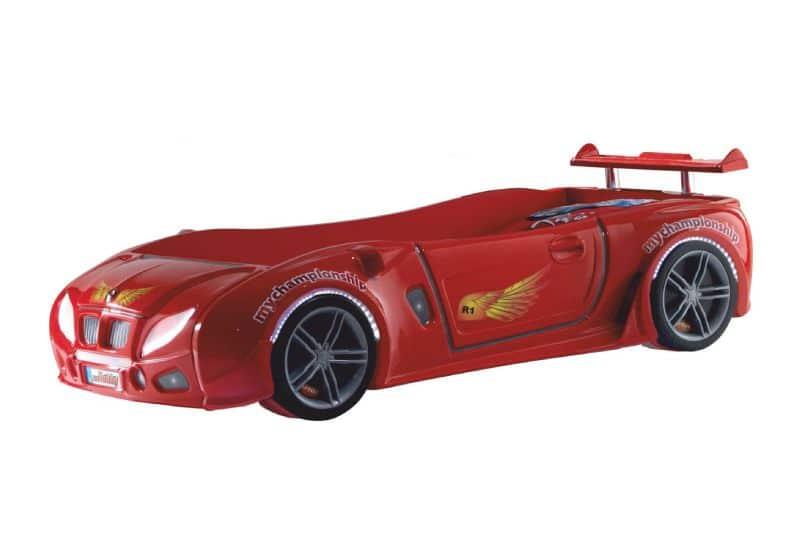 кровать машина турецкая из пластика формула 1 красная