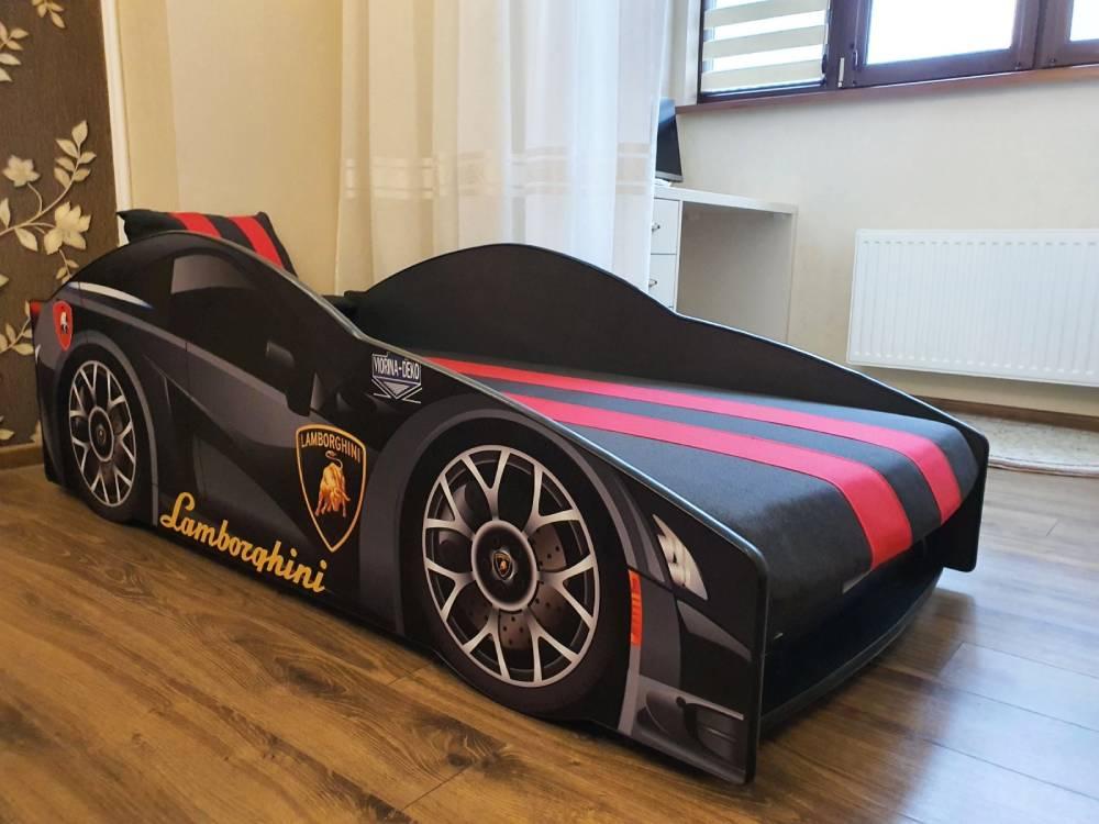 кровать машина ламборджини черная