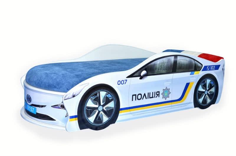 кровать машина тойота полиция с матрасом