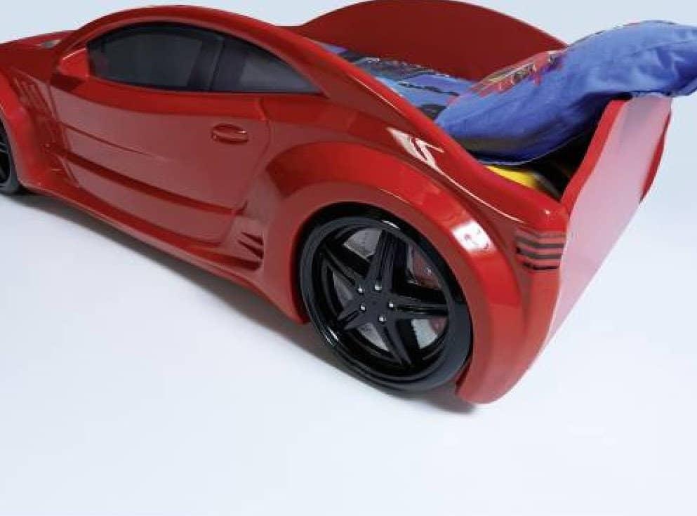 кровать машина турбо красная вип сзади