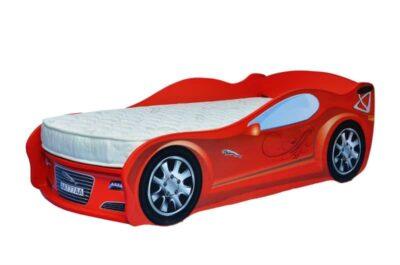 кроватка машинка ягуар красный