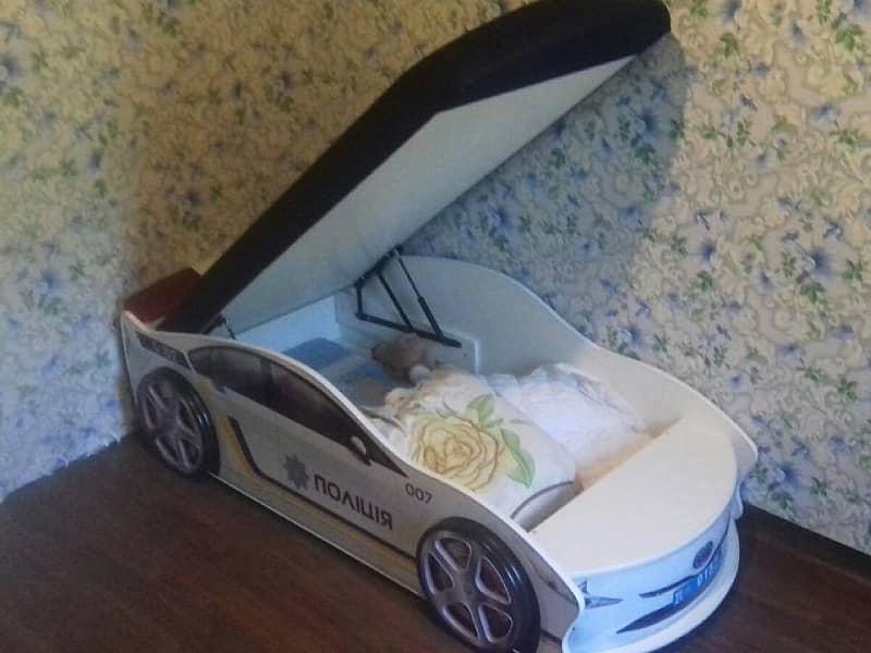 кровать машинка полиция с подъемным механизмом