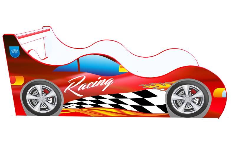 Кровать машина Racing Драйв Красная