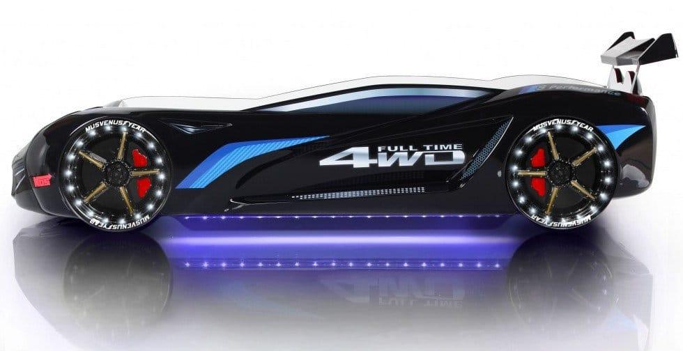 кровать машина вип с музыкой подсветкой бмв черная