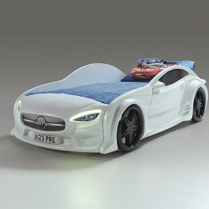 кровать машина GT вип белая с подсветкой