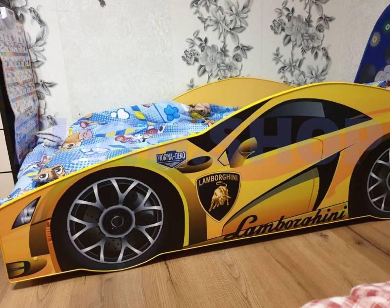 кровать для ребенка ламборджини желтая