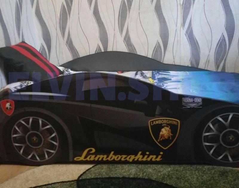 Lamborghini black кровать машина отзыв