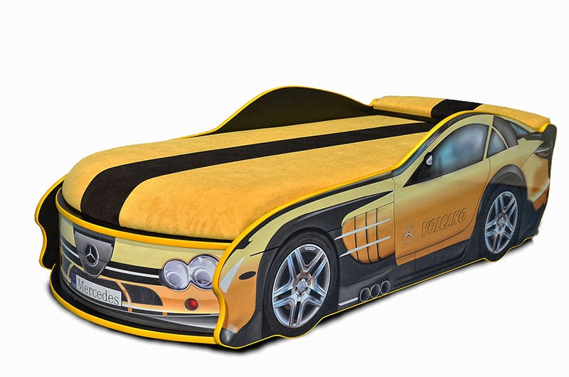 мерседес желтый кровать машина