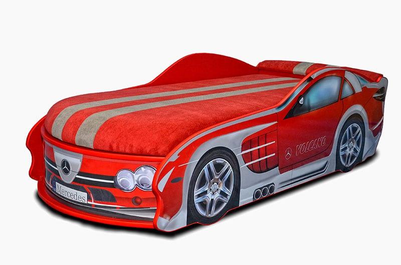 мерседес красный кровать машина