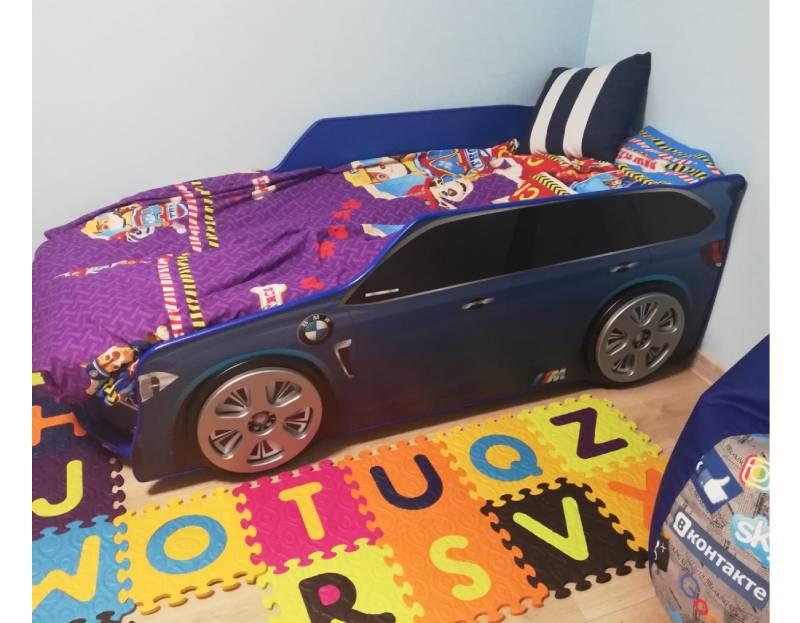 отзыв на кровать машинку бмв премиум синюю