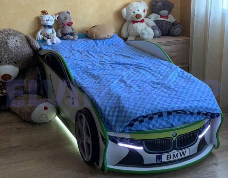 кровать в виде машины бмв спейс зеленая отзыв