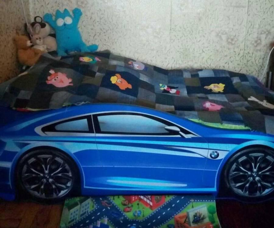 синяя бмв кровать машинаотзыв