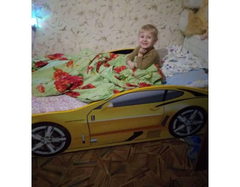кровать машина камаро желтая отзыв
