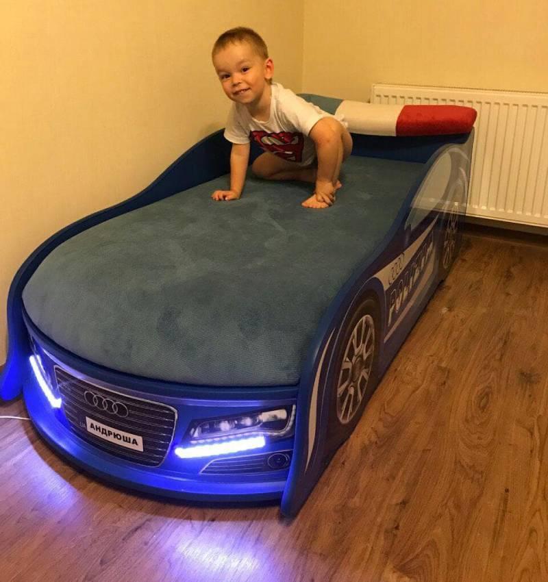 отзыв на кровать в виде машины полицейскую