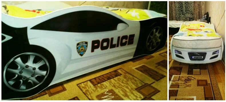 кровать в виде машинки полиция отзыв